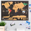 Scratch Map - World Deluxe Black
