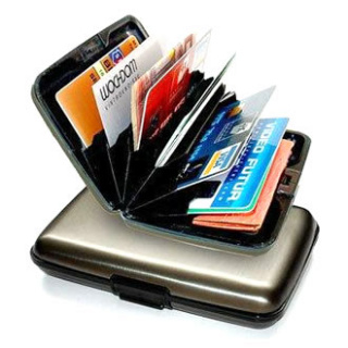 Practical card holder - silver