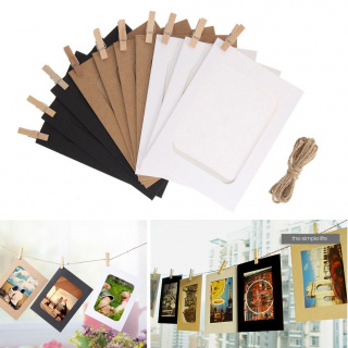 Hanging paper photo frames