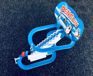 Penguin's water slide