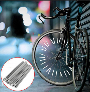 Reflective rods for bycicle