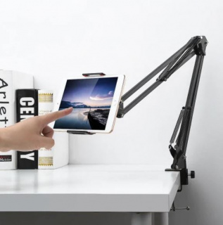 Long arm mobile/tablet holder