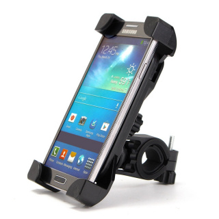 Phone holder on handlebars