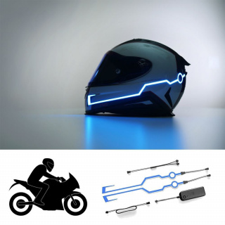 Safety helmet LED stripes
