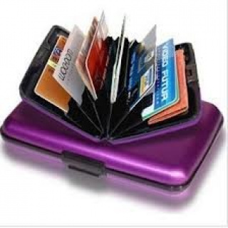 Practical card holder - purple