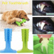 Silicone toothbrush for dogs