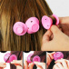 Silicone curlers - pink