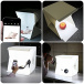 Mini photobox with LED lighting