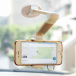 Adjustable mobile holder with suction cup